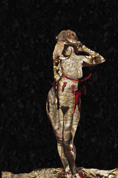 Mixed Media - She's Made Of Armor by Tony Rubino