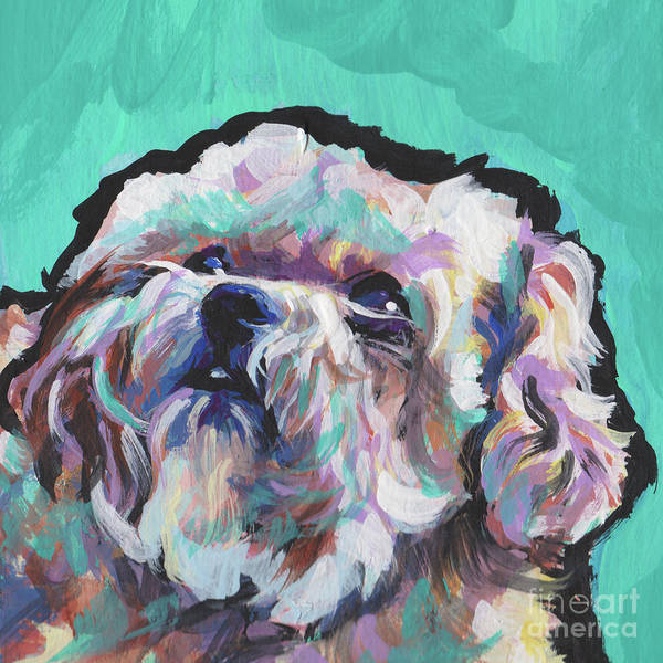 Poodle Wall Art - Painting - Shi Poo Shi by Lea