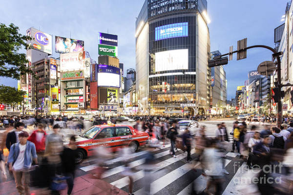 Photograph - Shibuya Crossing At Night In Tokyo by Didier Marti