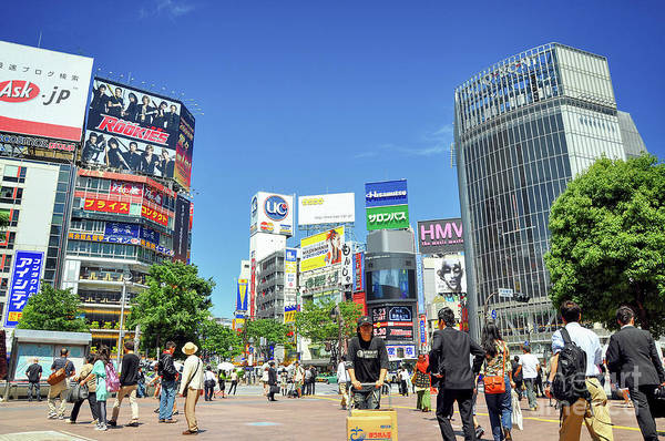 Wall Art - Photograph - Shibuya Crossing In Tokyo Japan by Delphimages Photo Creations