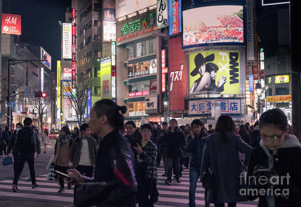 Photograph - Shibuya Crossing, Tokyo Japan 3 by Perry Rodriguez