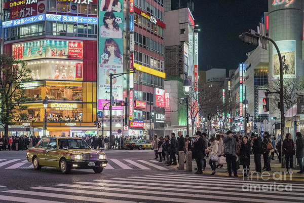 Art Print featuring the photograph Shibuya Crossing, Tokyo Japan by Perry Rodriguez
