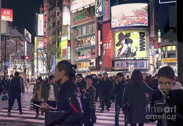 Photograph - Shibuya Crossing, Tokyo Japan Poster 3 by Perry Rodriguez