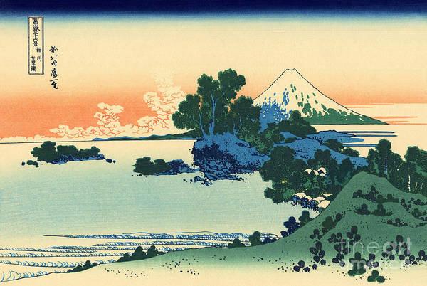 Wall Art - Painting - Shichiri Beach In Sagami Province by Hokusai
