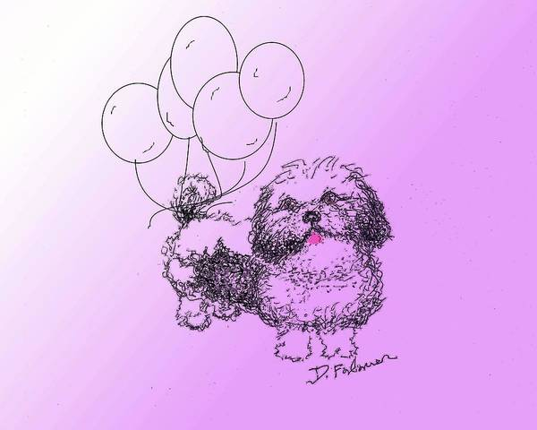 Drawing - Shih Tzu by Denise F Fulmer