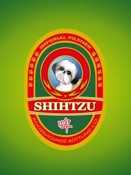 Drawing - Shih Tzu Imperial Pilsner by John LaFree