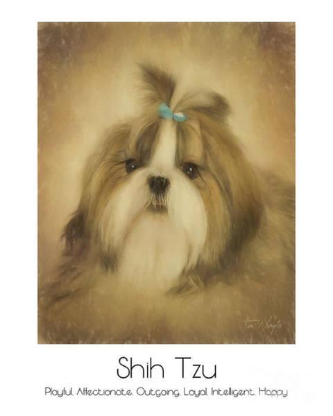 Digital Art - Shih Tzu Poster by Tim Wemple