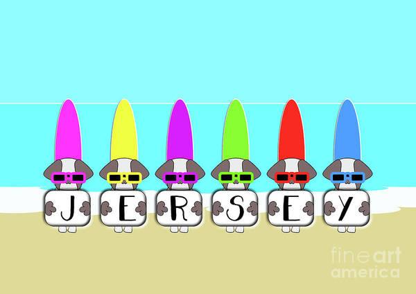 Digital Art - Shih Tzu Surf Jersey by Barefoot Bodeez Art