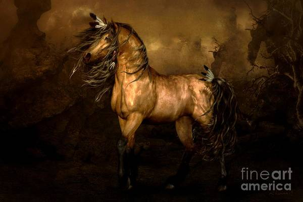 Spirit Digital Art - Shikoba Choctaw Horse by Shanina Conway
