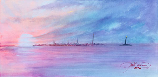 Painting - Shimmering Sunset by Jack Diamond