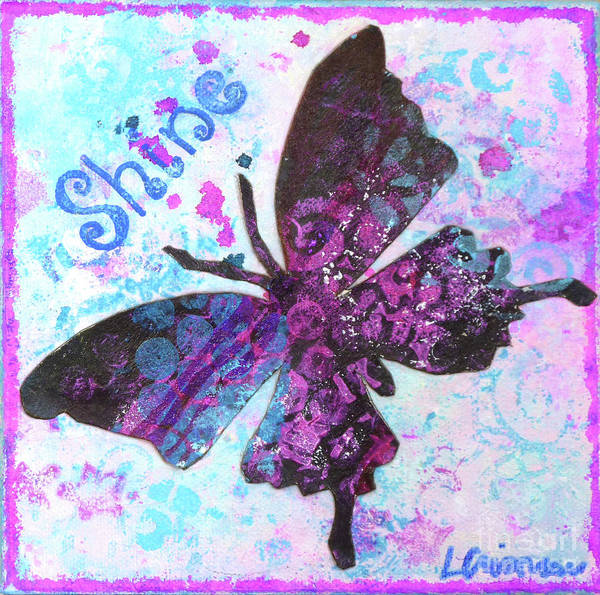 Painting - Shine Butterfly by Lisa Crisman