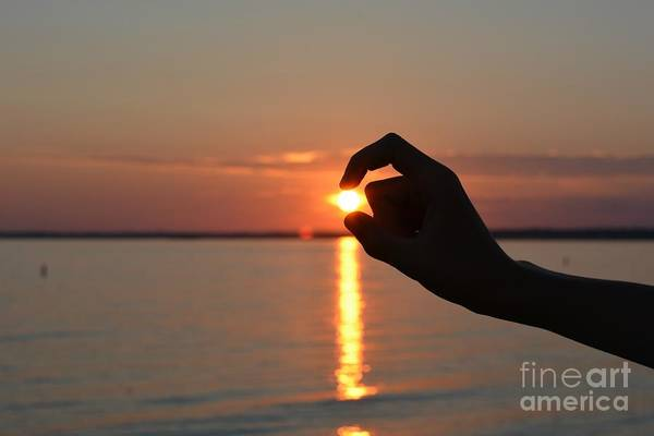 Little Things Photograph - A Pinch Of Sunset by Julie Street