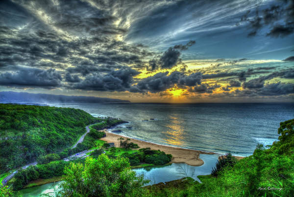 Photograph - Shine On Me Waimea Beach Sunset Hawaii Collection Art by Reid Callaway