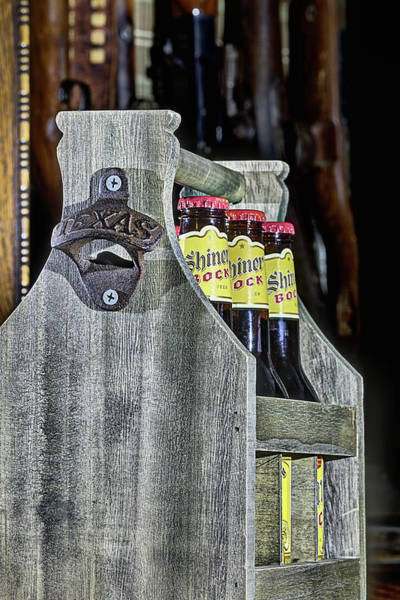 Wall Art - Photograph - Shiner Bock Texan For Beer by JC Findley
