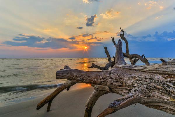 Photograph - Shining Through - Folly Beach Sc by Donnie Whitaker
