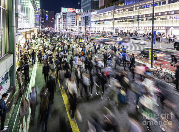 Photograph - Shinjuku People Rush by Didier Marti