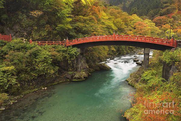 Wall Art - Photograph - Shinkyo Bridge In Nikko In Japan In Autumn by Sara Winter