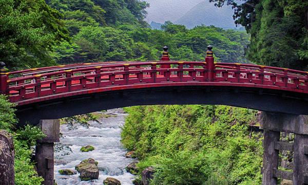 Painting - Shinkyo God's Bridge Landscape Painting by Omaste Witkowski