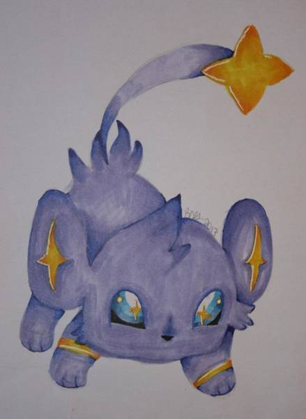 Pokemon Drawing - Shinx by Brianne Garofalo