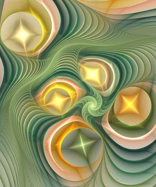 Digital Art - Shiny Geometry by Anastasiya Malakhova