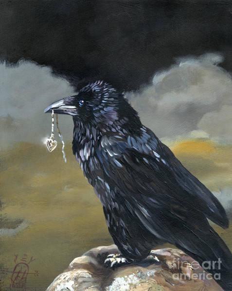 Ravens Painting - Shiny by J W Baker