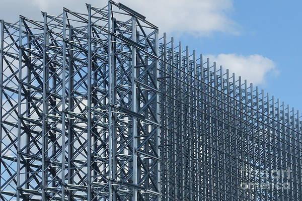 Photograph - Shiny Steel Construction In Nature by Eva-Maria Di Bella