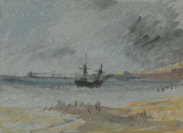 Painting - Ship Aground Brighton by Joseph Mallord William Turner