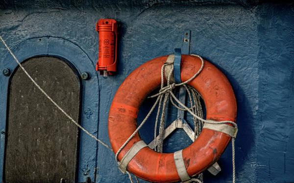Photograph - Ship Art Blue by Bill Posner
