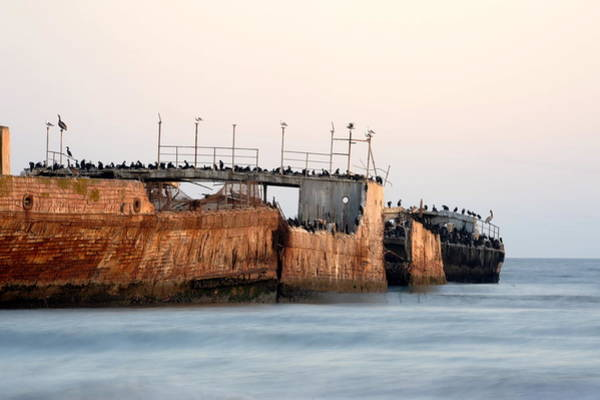Wall Art - Photograph - Ship At Seecliff by Catherine Lau