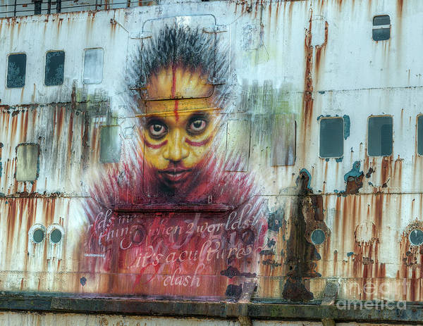 Abandon Ship Photograph - Ship Graffiti by Adrian Evans