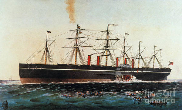 Photograph - Ship: Great Eastern, 1858 by Granger