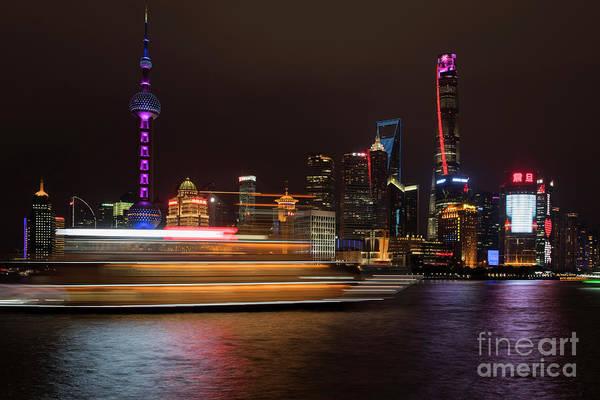 Photograph - Ship In Shanghai by David Lichtneker