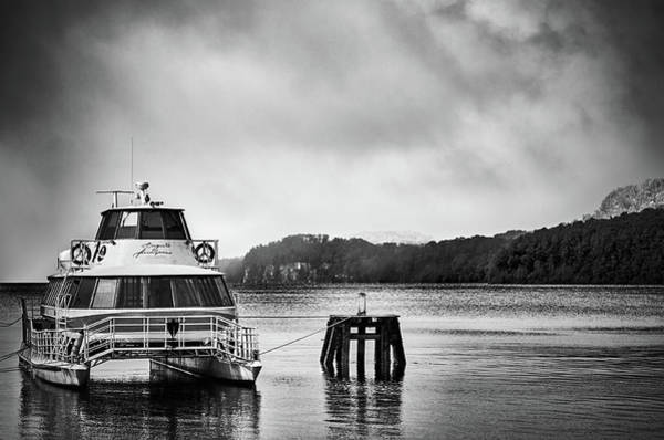 Photograph - Ship On The Docks Of Mansa Bay In The Argentine Patagonia by Fine Art Photography Prints By Eduardo Accorinti