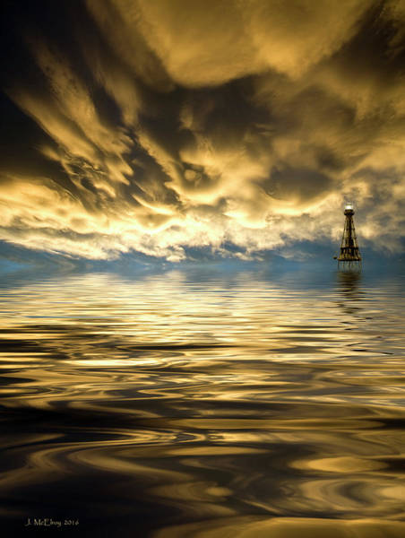 Atmospherics Wall Art - Photograph - Ship Shoal by Jerry McElroy