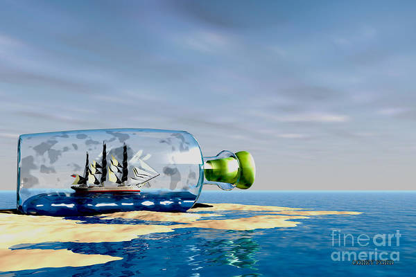 Speed Boat Digital Art - Ship To Shore by Corey Ford