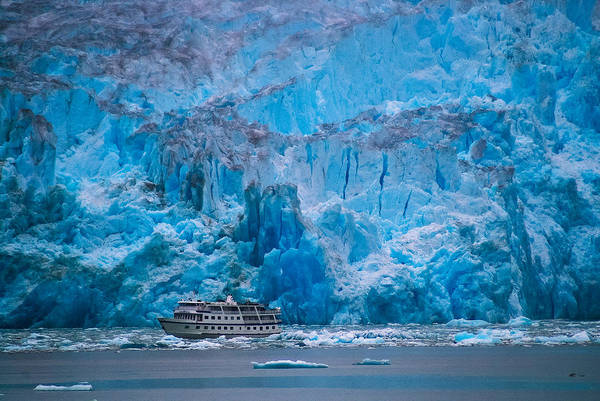 Photograph - Ship With Glacier by Harry Spitz