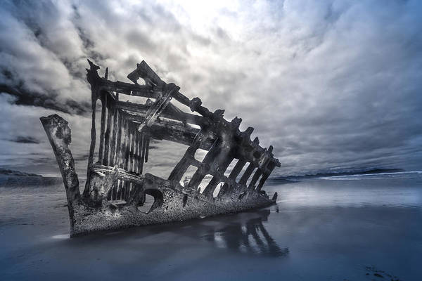 Photograph - Ship Wreck by David Brookwell