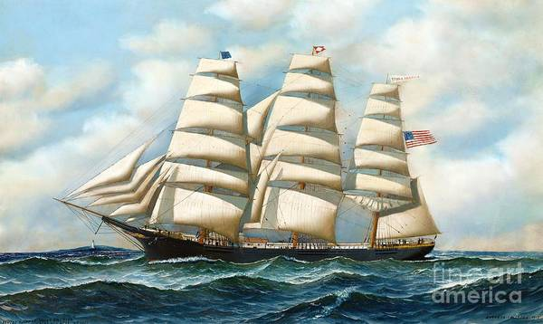 Lost Painting - Ship Young America At Sea by Pg Reproductions