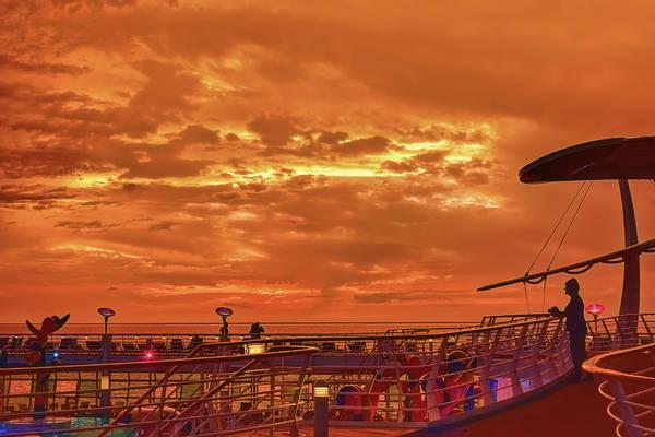 Photograph - Shipboard Sunset by John M Bailey