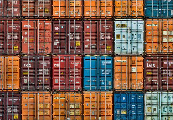 Photograph - Shipping Containers by Ginger Wakem