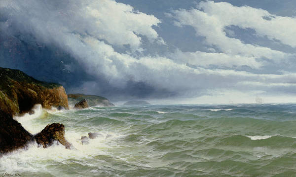 Coast Line Painting - Shipping In Open Seas by David James