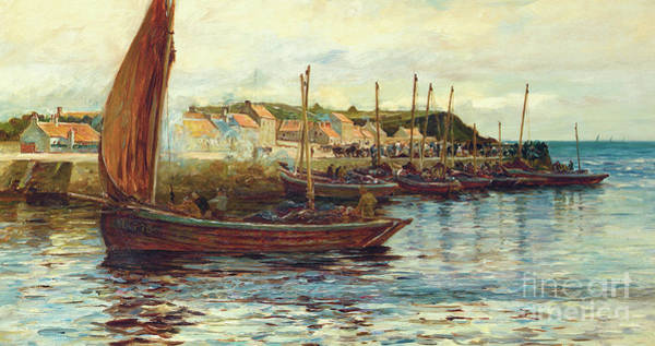 Wall Art - Painting - Shipping In The Harbor Of Oban, 1892 by Colin Hunter