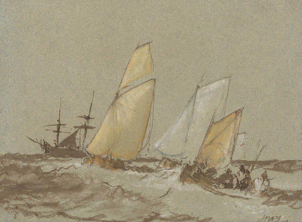 Painting - Shipping by Joseph Mallord William Turner