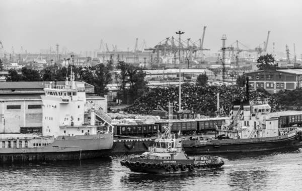 Photograph - Shipping On The River Neva Russia 2 by Clare Bambers