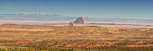 Land Of Enchantment Photograph - Shiprock From Arizona Panorama 2 - New Mexico by Brian Harig