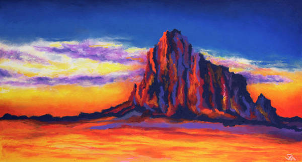 Wall Art - Painting - Shiprock Mountain by Stephen Anderson