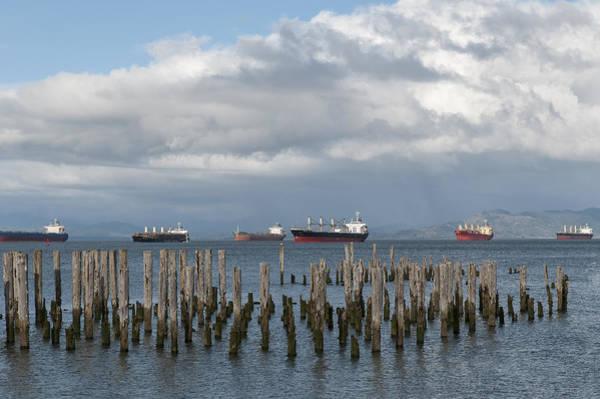 Photograph - Ships At Astoria by Robert Potts
