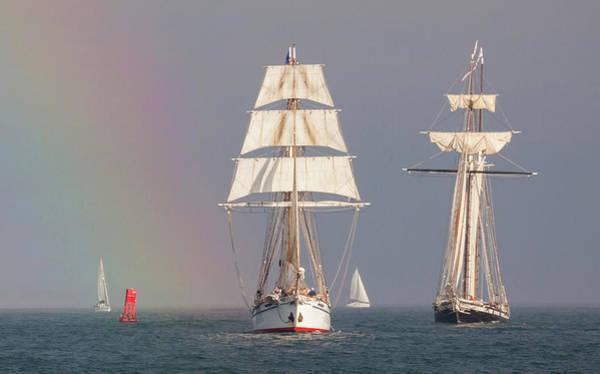 Photograph - Ships In A Rainbow by Cliff Wassmann