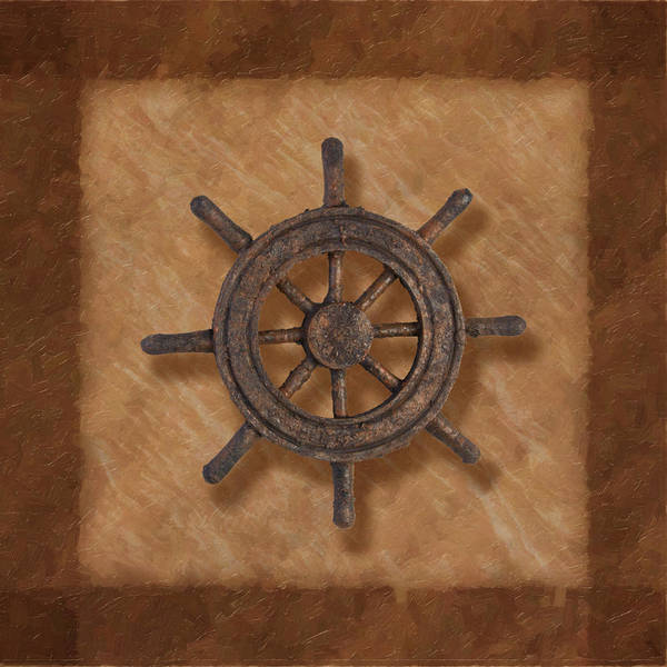 Naval Wall Art - Photograph - Ship's Wheel by Tom Mc Nemar