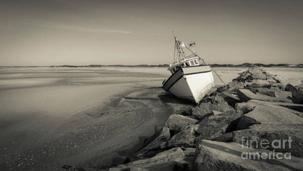 Photograph - Shipwreck Provincetown Breakwater Cape Cod Ma by Wendy Fielding